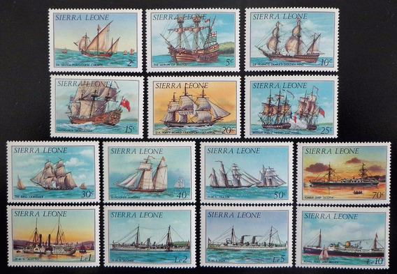 Sierra Leona Barcos, Serie Completa Sc 639-52 85 Mint L10293
