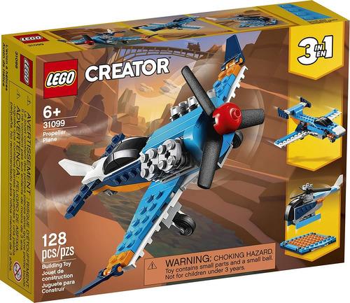 Lego Creator 3 En 1 Hélice Avión 31099 - 128 Piezas