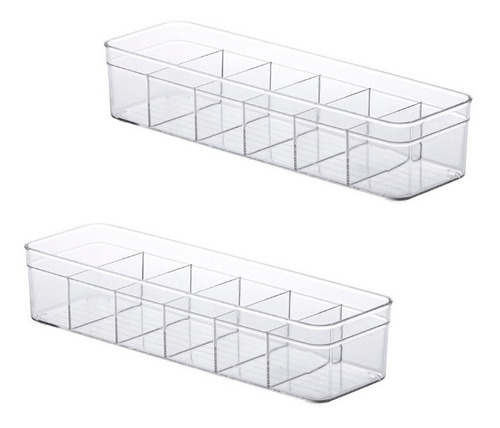 2 Organizador Com Divisória Para Gaveta 35,5x10,5x7,5cm 1127