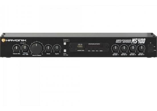 Amplificador Multi Setores Ms400 Hayonik Nfe Frete Gratis