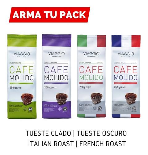 Arma Pack Café Molido 4 Bolsas De 250 Grs | Viaggio Espress