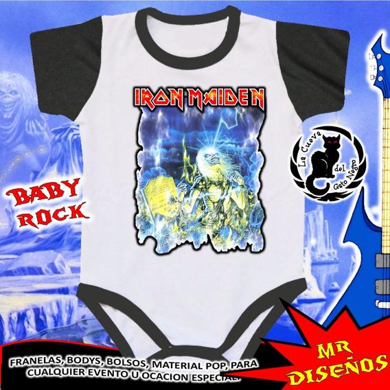 Bodys De Bebe Personalizados Iron Maiden - 2