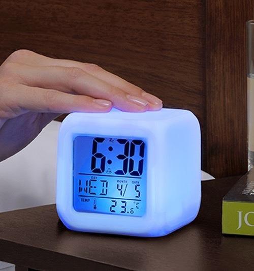 Luz Despertador Colors Betterware Reloj Lámpara Colores