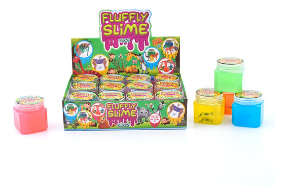 Fluffly Slime Surtido Con Animales 3d Original Ditoys