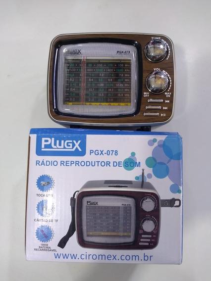 Rádio Am/fm, Ent. Usb E Cartão Sd Com Bateria Recarregável