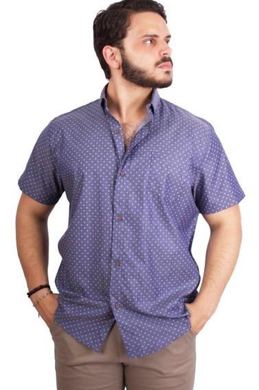 Camisa American Blues Algodon Patricio Gris