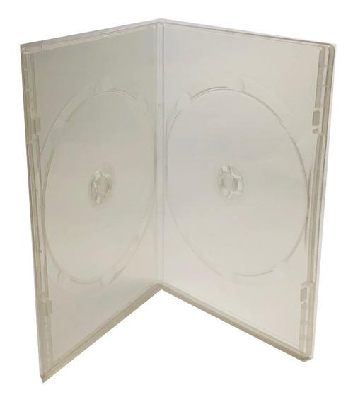 Estuche Dvd Transparente Para 2 7mm 50 Pzas