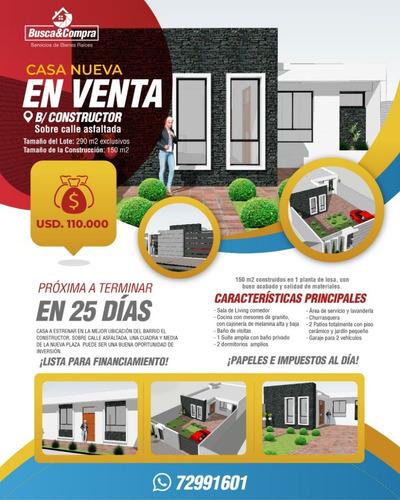 Casa Nueva De 2 Habitaciones Y 2 Baño, 2 Garajes En Tarija