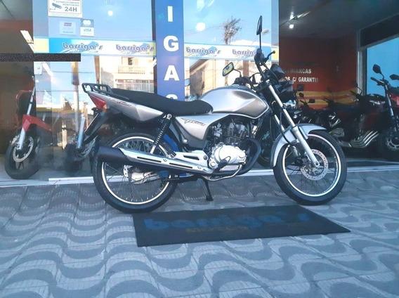 Honda Cg 150cc Esd Cinza 2008 Impecável