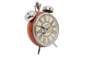 Relógio Couro Natural Detalhe Cromado Alta Qualidade