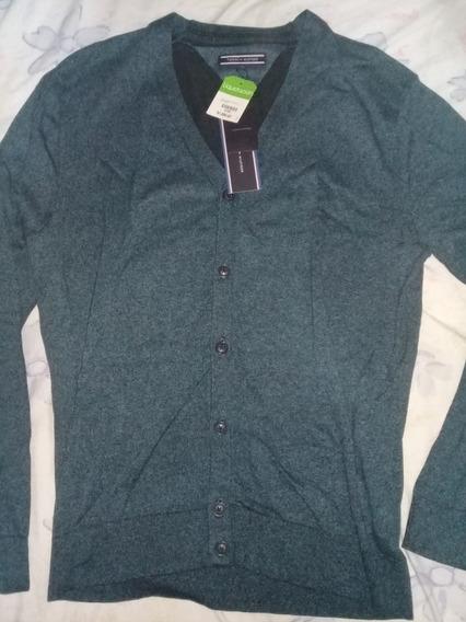 Cardigan Tommy Hilfiger Sweater Cuello V Moda Fashion Trendy