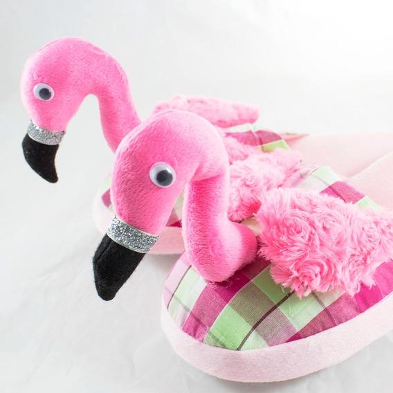Pantuflas Flamingo Kawaii Kawai Dama Niña Varias Tallas