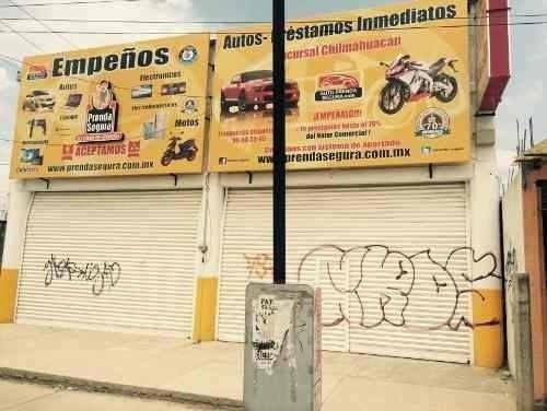 Rento Local Chimalhuacan Sobre Avenida Comercial