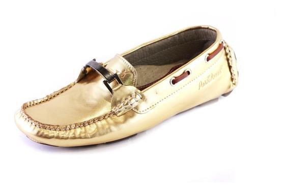 Zapatos Driver Mocasines Peskdores Dorado Drdh0050