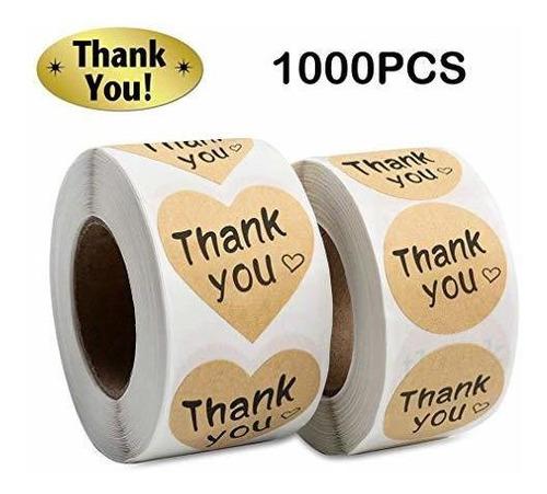 Imagen 1 de 6 de Gracias Pegatinas Rollo 1000 Piezas Etiquetas Adhesivas Pape
