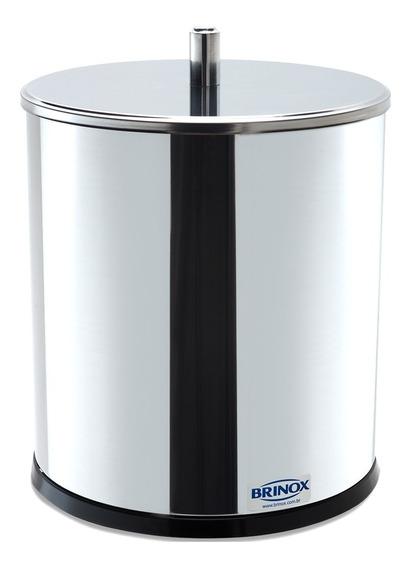 Lixeira Inox Com Tampa Brinox Lixeira Para Banheiro Cozinha