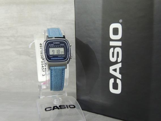 Relógio Casio Vintage Mini Jeans La670wl-2a2df (nf/garantia)