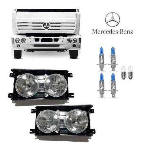 Imagem 1 de 1 de Farol Caminhão 712c Mercedes Original Fortluz Kit C 2 Sb