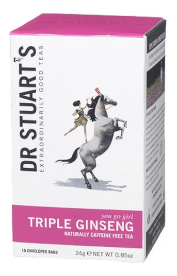 Té Triple Ginseng Dr Stuarts Para Mayor Energía 100% Natural
