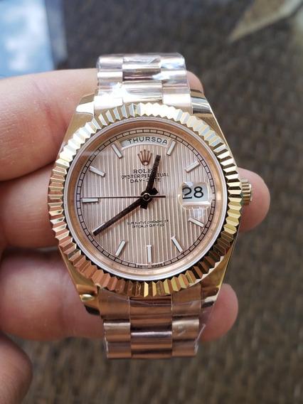 Relógio Rolex Day Date Presidente Stripes Rose