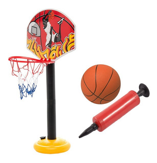 Aro De Baloncesto De Juguete Con Malla Rojo + Envio Gratis