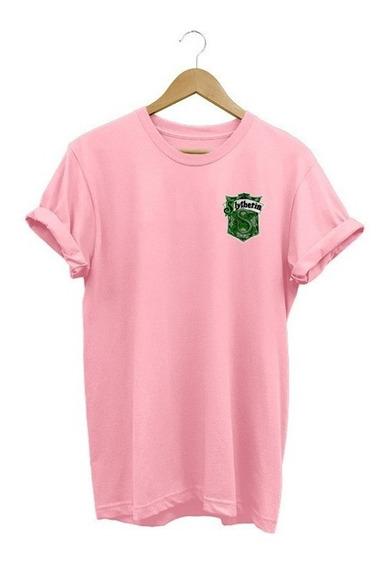 Camisa Feminina Baby Look Harry Potter Sonserina Algodão