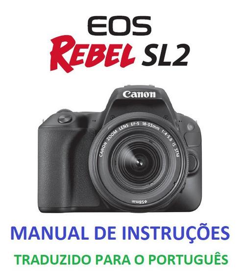Manual Em Português Canon Eos Rebel Sl2