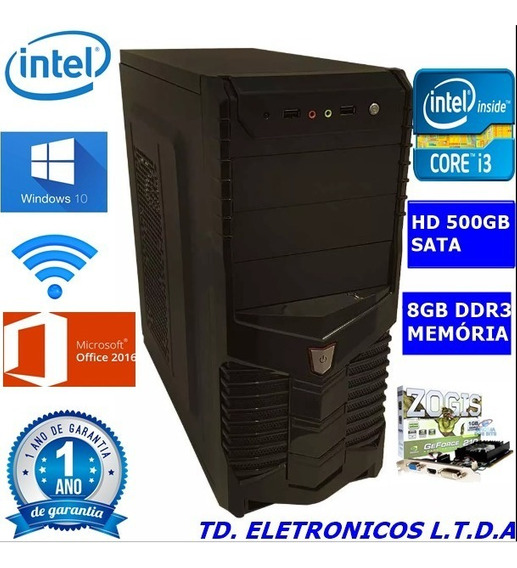 Cpu Gamer Core I3 3g/8gb Ddr3 /hd 500gb /wifi/1gb Video