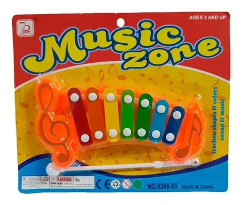 Xilófon Instrumento Infantil De 7 Notas Colorido Didáctico
