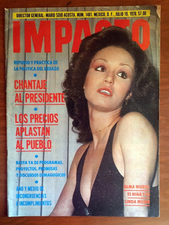 Revista Impacto / Alma Muriel En Portada (año 1978)