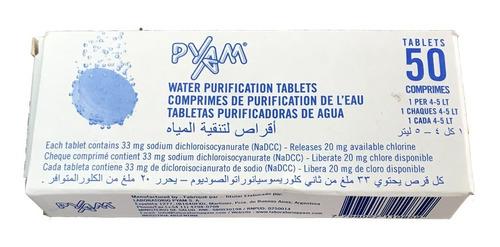 Pastillas Potabilizadoras Pyam Comprimido X 50 Villa Devoto