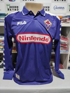Camisa Fiorentina 1998-99 Manga Longa Batistuta 9 Serie A