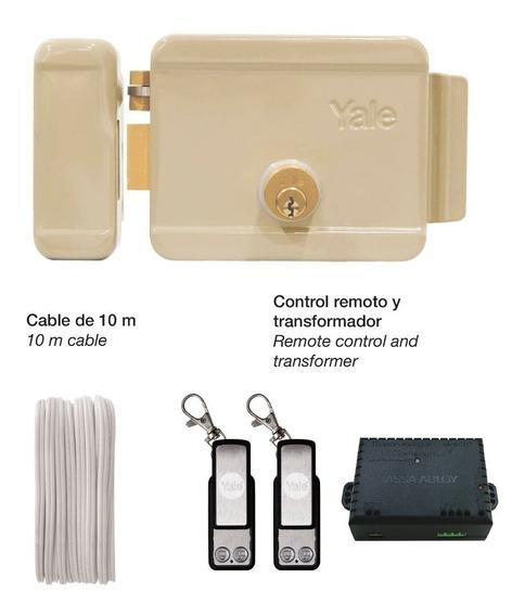 Kit Cerradura Eléctrica Izquierda Con Control Remoto