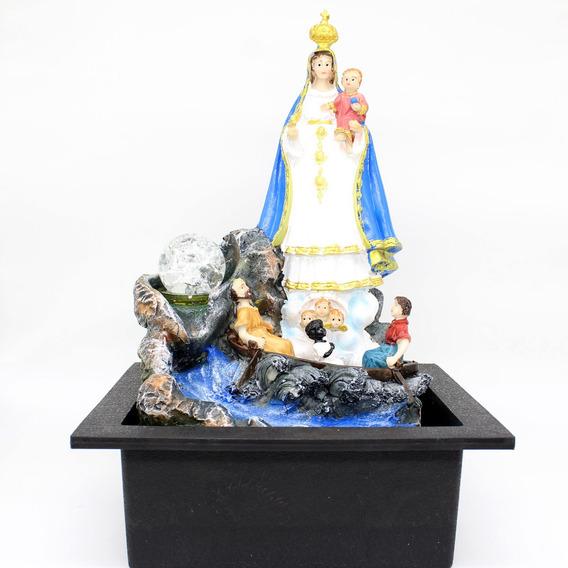 Fonte Agua Decorativa Cascata Artificial Leds Nossa Senhora