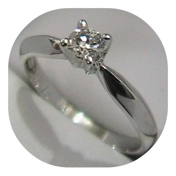 Anillo Compromiso Diamante Natural .15ct Oro 18kt 001