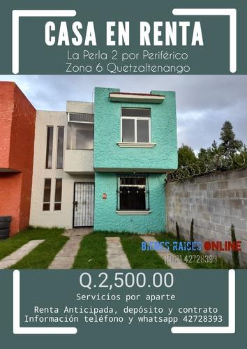 Imagen 1 de 1 de Casa En Renta La Perla 2 Zona 6 Quetzaltenango