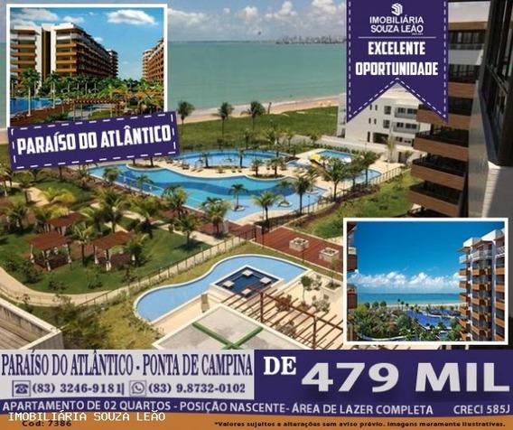Apartamento Para Venda Em Cabedelo, Ponta De Campina, 2 Dormitórios, 1 Suíte, 1 Banheiro, 1 Vaga - 7386