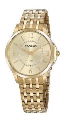 Relógio Feminino Seculus C/cristais 77054lpsvds1
