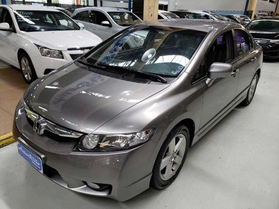 Honda Civic 1.8 Lxs Flex Cinza 2009 (completo + Couro)