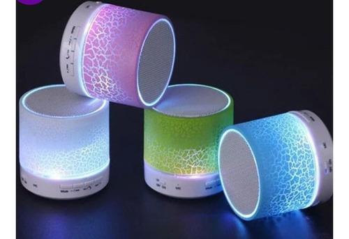 Mini Caixinha Som Bluetooth Luzes Led Rádio Fm Escolhe Cor