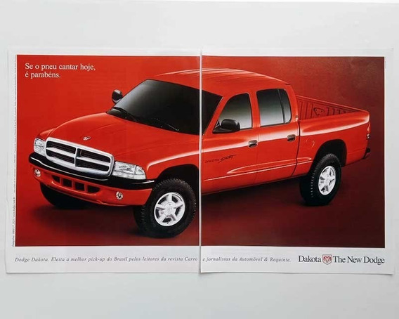 Dodge Dakota Cabine Dupla - Propaganda, Anúncio Antigo