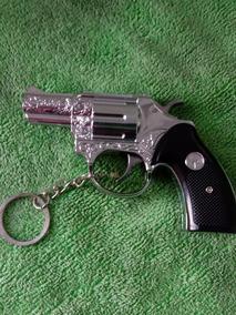 Chaveiro Revolver Calibre 38 Com Laser E Choque