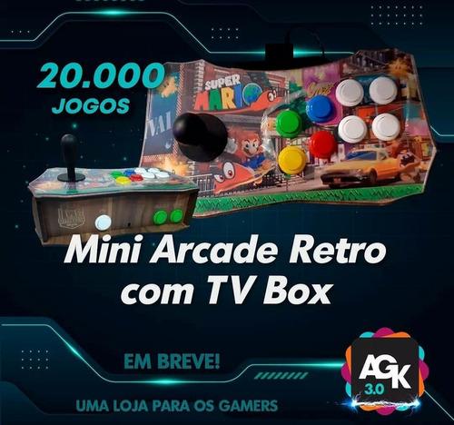 Mini Arcade Retro Com Tv Box