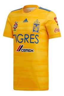 Jersey Playera De Tigres Local 19/20 Con Parche Mx