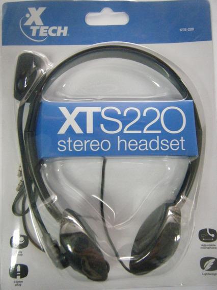 Audífono Micrófono Xtech Xt220 Nuevos