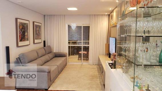 Apartamento 86 M² - 3 Dormitórios - 1 Suíte - Vila Valparaíso - Santo André/sp - Ap1233
