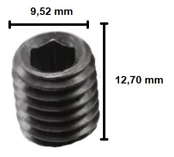 Imagem 1 de 6 de Parafuso Allen Sem Cabeça 3/8 X 1/2 - 20 Unidades