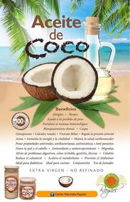 Aceite De Coco. Naturismo Raysiel.