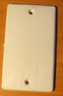 Tapa Ciega Plástico 4x2 Blanca Para Cajetín Electricidad