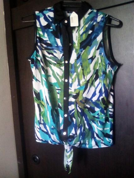 Blusa Camisa Dama Green Print